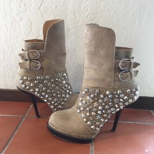 Jeffrey Campbell studded booties